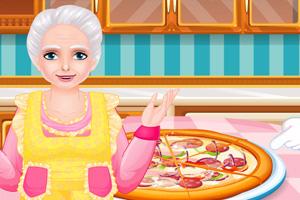 和奶奶一起做披薩