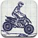纸上摩托车